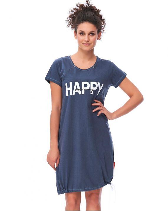 Ночная рубашка для беременных и кормящих мам Doctor Nap TCB 9504 deep blue