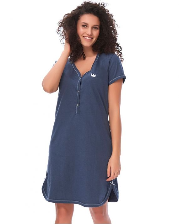 Зручна нічна сорочка Dobranocka TCB 9444 black