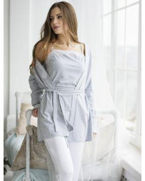 Домашний костюм Wiktoria W 601 серый, мятный