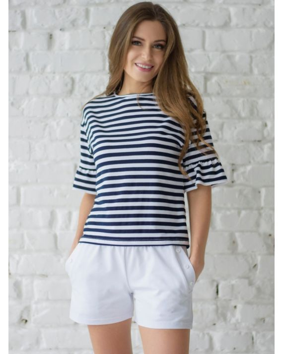 купить пижаму женскую Wiktoria W 616 цвет синий, коралловый
