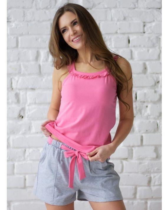 купить пижаму женскую Wiktoria W 612 цвет голубой, мятный, розовый
