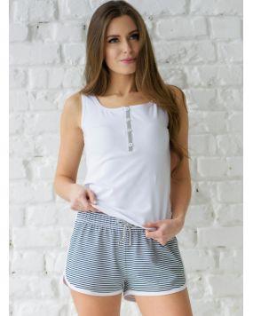 купить женскую пижаму, одежду для дома Wiktoria W 622 цвет белый, голубой