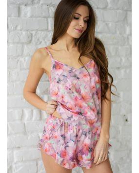 купить пижаму женскую Wiktoria W 628 цветочный принт