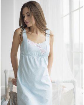 Ночная рубашка Wiktoria 602 цвет мятный, серый