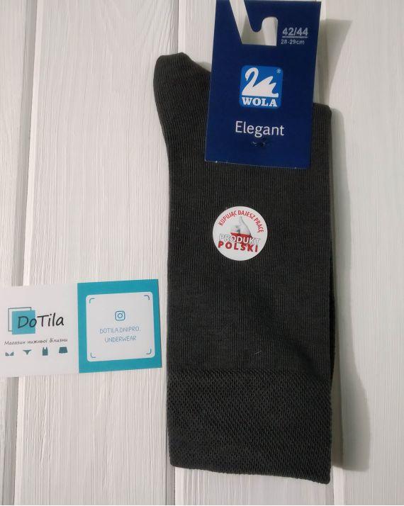 Мужские носки Wola Elegant серые