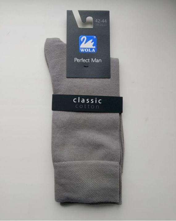 Мужские носки Wola Classic cotton серые