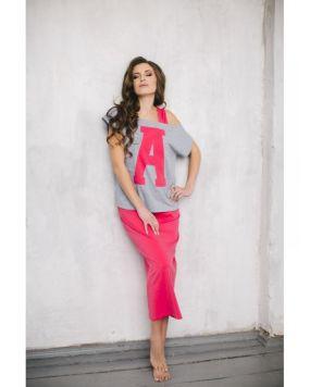 Домашний костюм Wiktoria W 417 розовый