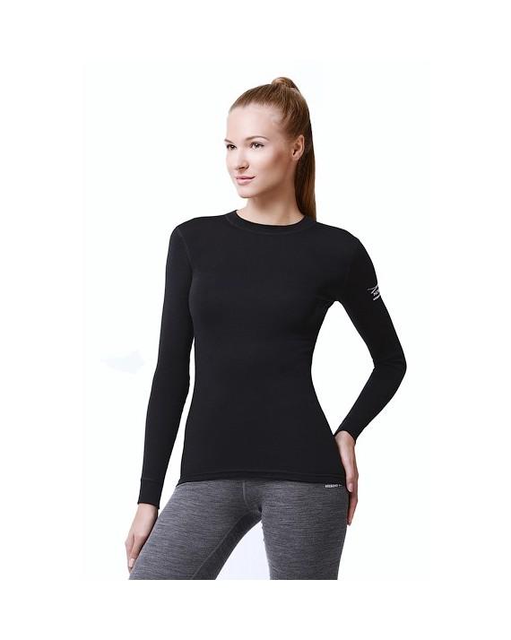 Футболка з довгим рукавом Norveg Soft Shirt чорна арт. 14SW1RL