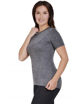 Футболка с коротким рукавом Norveg Soft T-Shirt серая меланжевая арт. 14SW3RS