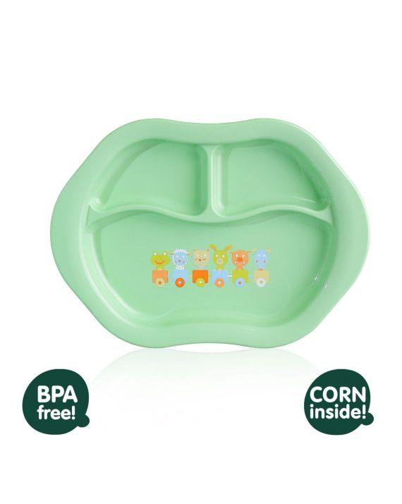 Детская тарелка порционная XKKO Organik ECO арт. TAR0288 салатовая