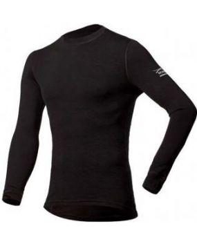 Футболка с длинным рукавом Soft Shirt черная 14SM1RL-002