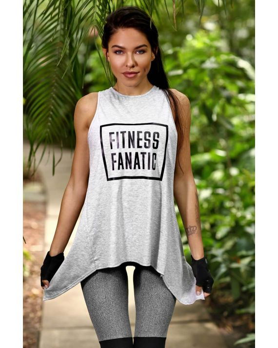Майка Fitness fanatic, Light Grey DF