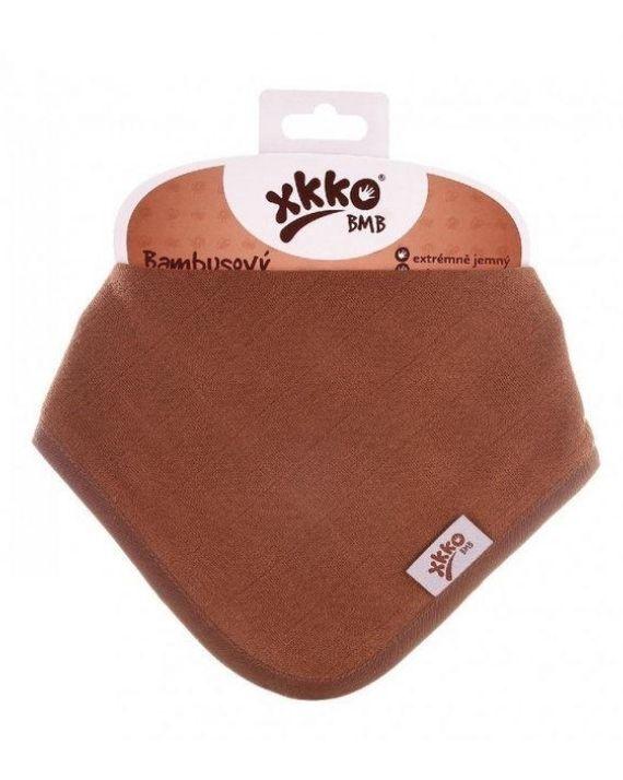 Нагрудник бамбуковый XKKO BMBBND023 молочный шоколад