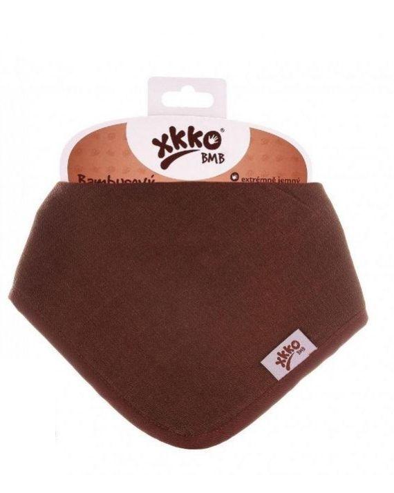 Нагрудник бамбуковый XKKO BMBBND022 черный шоколад