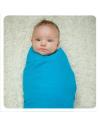 Муслиновая пеленка из бамбука XKKO® арт. ВМВ120004 синяя 120х120 см